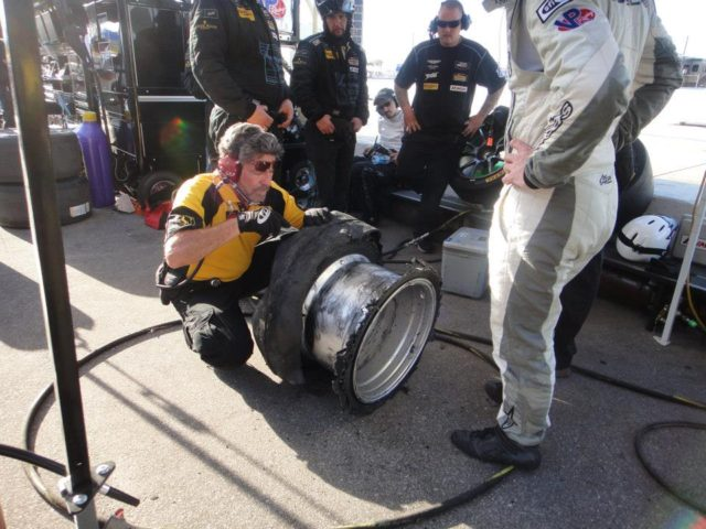 IMSA tire inspection